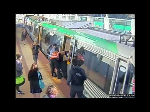Inusual accidente en tren australiano