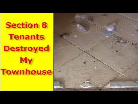 HUD Section 8 housing program tenant caused $13,000 damage to my Section 8 houses Part 1