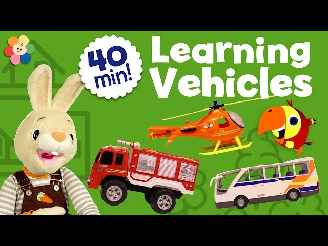 Learning Vehicles Children Shows Compilation | Unboxing Kids Toys and Learning Vocabulary for Kids