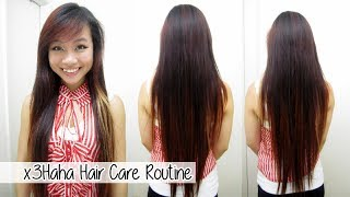 x3Haha Hair Care Routine l Hair Care for Long Healthy Hair