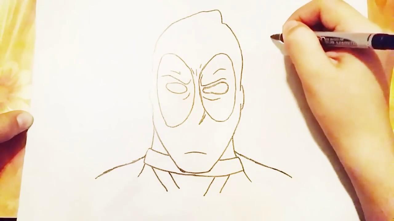 çok Kolay Deadpool çizimi Youtube