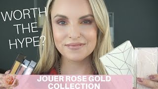 NEW JOUER ROSE GOLD COLLECTION REVIEW & DEMO
