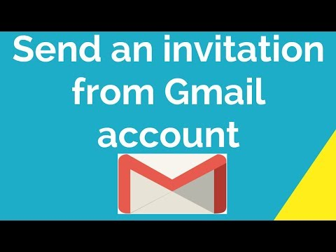 Send An Invitation From Gmail Account