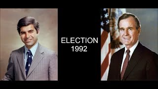 George H.W. Bush vs. Michael Dukakis | Election Night 1992