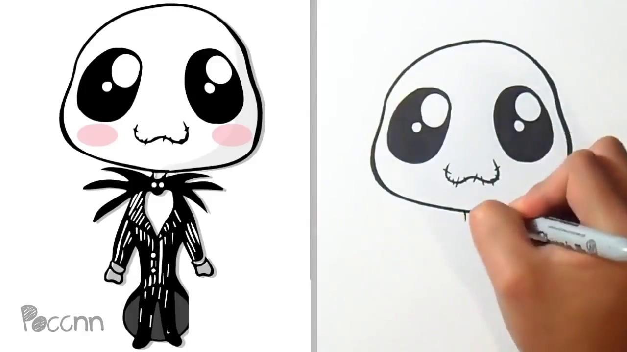 Jack Skeleton Para Colorear: Cómo Dibujar A Jack De El Extraño Mundo De Jack Kawaii