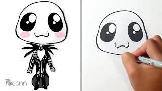 Cómo dibujar a Jack de el Extraño mundo de jack  Kawaii