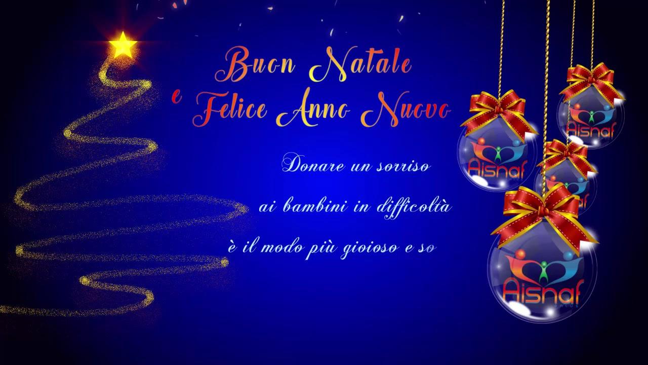 Auguri Di Buon Natale Felice Anno Nuovo.Auguri Di Buon Natale E Felice Anno Nuovo Da Aisnaf Youtube