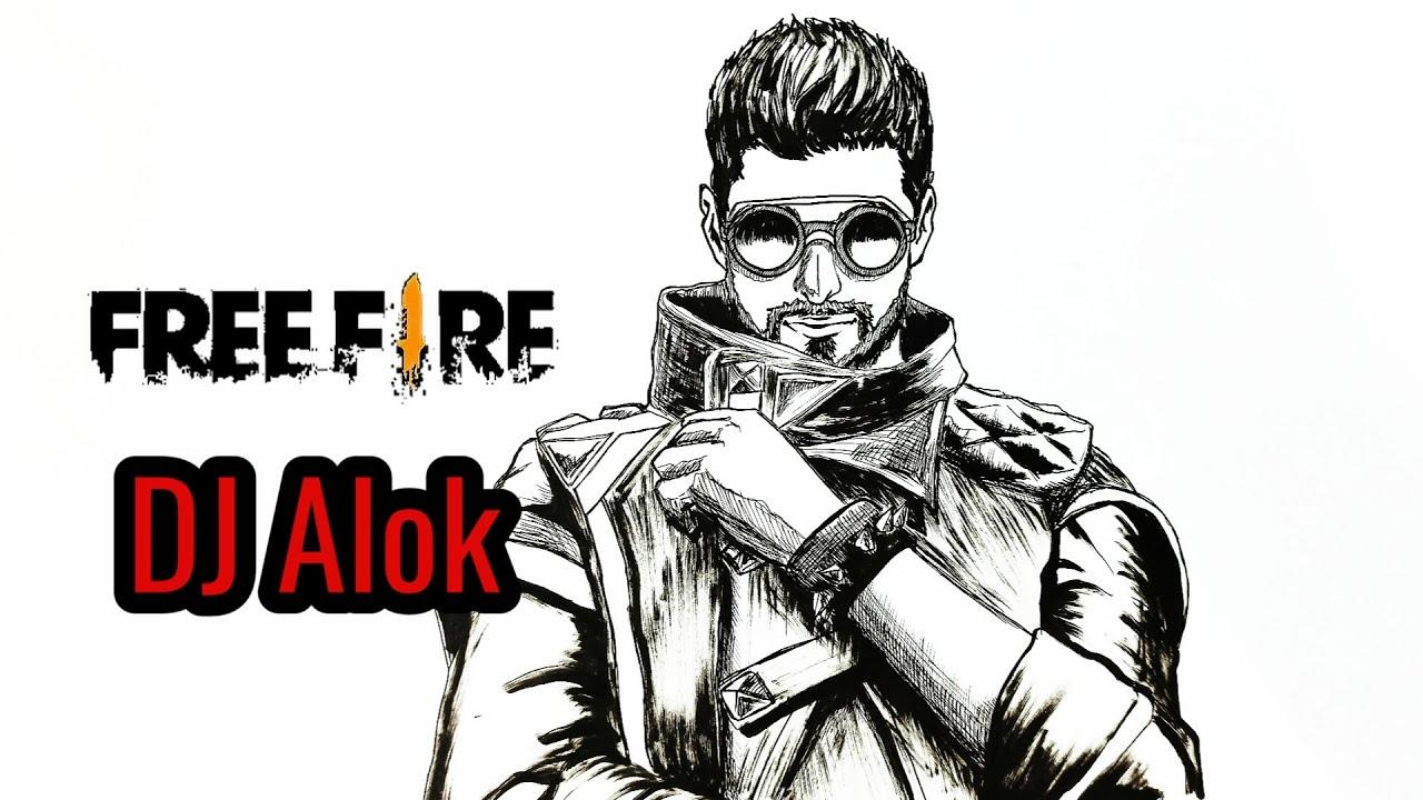 Cara Menggambar Dj Alok Drawing Character Free Fire Gambar Karakter Free Fire Youtube