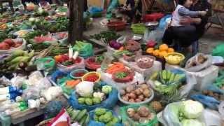 Organic food market Hanoi, Vietnam