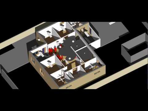 Fire Escape Modelling   Site View