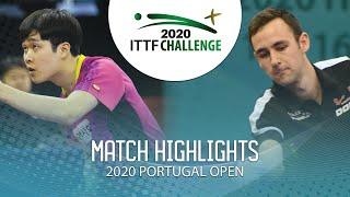 Kwangil Baek vs Lionel Weber | 2020 ITTF Portugal Open Highlights (FS)