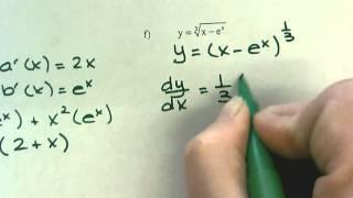 derivative of y e x