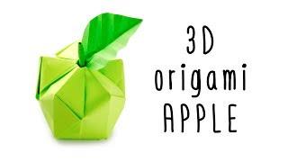 3D Origami Apple Tutorial - Origami Fruit - Paper Kawaii