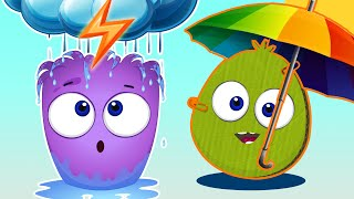 Op and Bob Cartoon   Dry and Wet Smile and Learn   Educational Cartoon For Kids