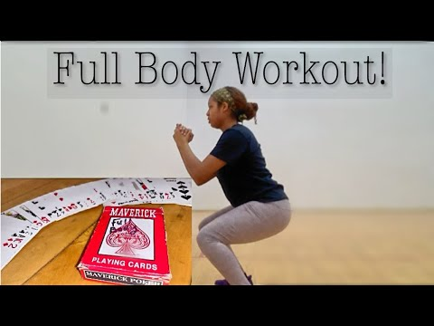 30 MIN DECK OF CARDS WORKOUT | FULL BODY | NO Equipment Needed | AMBeauty