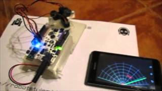 Arduino + Bluetooth + Processing + Android = Sonar
