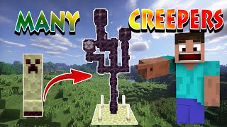MINECRAFT: Lots of creepers here !!!!!!!!!!! (Many Creepers Add-on)