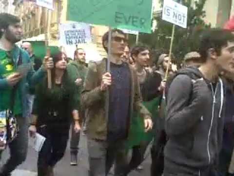 Decriminalise cannabis march in Valletta