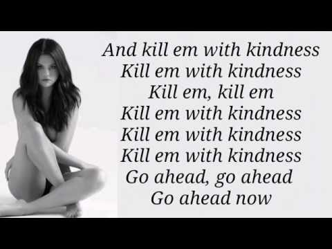 Selena Gomez  Kill Em With Kindness Lyrics HD