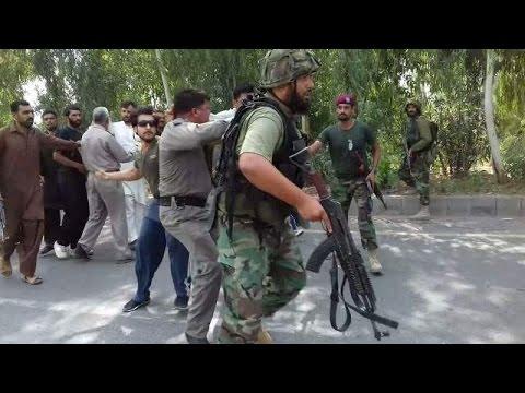 Thrashing swat cops
