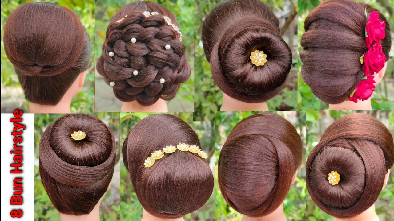 8 bun hairstyle for special occasion | new hairstyle with trick | hair style girl | easy hairstyle |