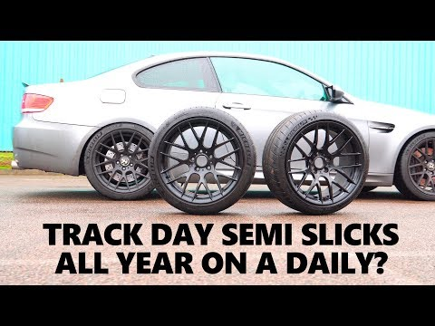 Can you use track semi slicks tyres on a normal car? Michelin Pilot Sport Cup 2 vs Pilot Sport 4 S