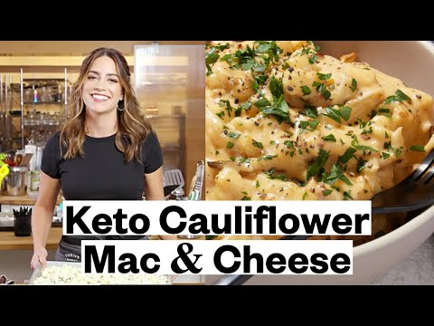 Mac-and-Cheese with Cauliflower and Creamy Red Pepper Sauce