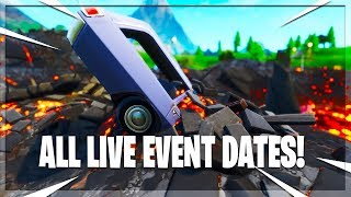 *New* All Live Event Dates! Nexus *Vault Event* Loot Lake / Volcano Event! (Fortnite Battle Royale)