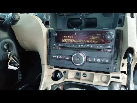How to Remove Radio / CD player from Pontiac Solstice 2006 for Repair.