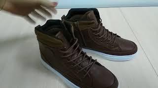 Faberlic  обзор продукции:Ботинки для мальчиков Boy, коричневые