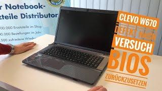 Clevo W670 Defekt nach Versuch BIOS zurückzusetzen   LED blinkt 2x grün