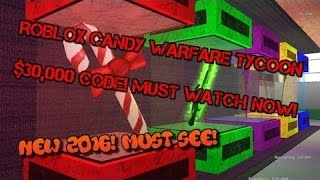 ROBLOX Candy War Tycoon Code!! $30,000