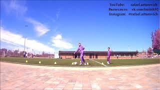 Индивидуальная тренировка по футболу. Троицк Москва 15 июня 2018 мальчик 11 лет