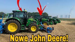 #273- Nowe ciągniki od John Deere! Słomek testuje w polu! Seria 6xxx M!