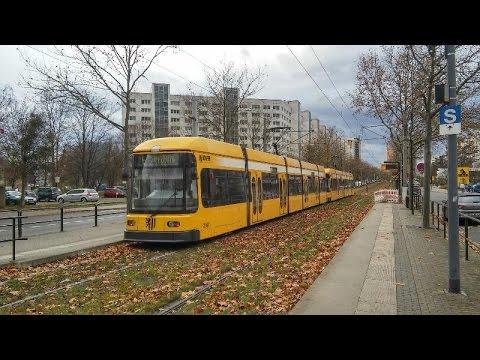 Dresden Straßenbahn NGT6+NGT6; 18.11.+24.11.2016
