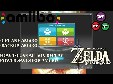 How to use Action Replay Power Save   Amiibo   Back up Amiibo   Download Amiibo   Fierce Deity Armor