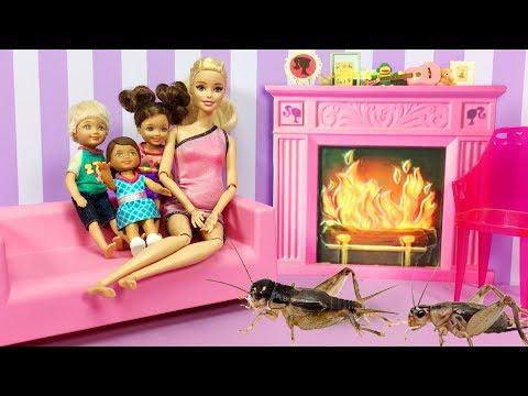 Barbie ve Ailesi Bölüm 120 - Evi Böcekler Bastı - Çizgi film tadında Barbie oyunları