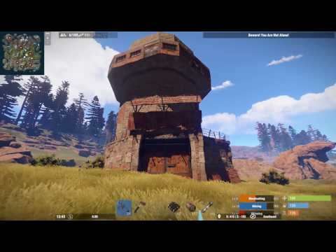 Rust raid raiding a roof campers and MAD loot