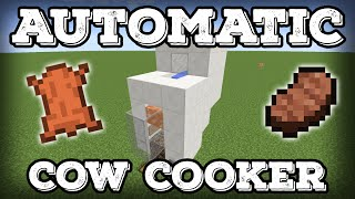Minecraft Tutorial - Automatic Cow Cooker - Leather Farm - Steak Farm - Compact(Minecraft 1.16+)