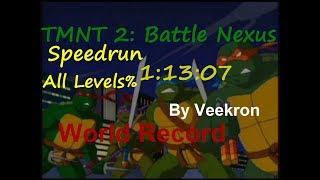 TMNT 2: Battle Nexus(PC) - Speedrun All Levels% in 1:13:07 World Record