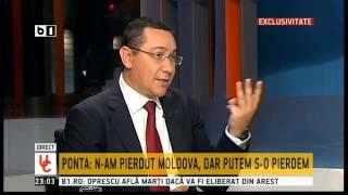 Ponta: Se joacă acum soarta Republicii Moldova