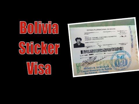 Bolivia Sticker Visa Explanation