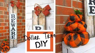 Dollar Tree DIY | Fall & Halloween Decor | Make with me!