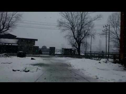 Snow fall in Kashmir,gmc srinagar
