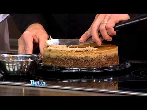 Author Bruce Williamson with an interesting topping for cheesecake, July 22, 2013