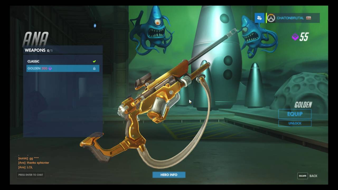 overwatch how to get golden weapons