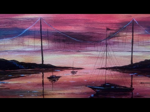 Oil painting classes| Art painting lessonsfor beginners | evening painting art