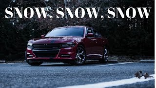 First day of Snow/ Charger getting sideways in snow...