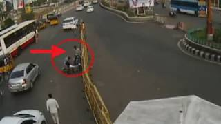 Bike Accident (Self)  | Caught By CCTV in Tirupati | Live Accidents in India| TPT Traffic Police