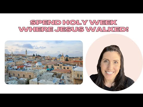 Do you want to see the Holy Land for ✨free✨ during Holy Week?  Traditional Catholic Holy Week Plans